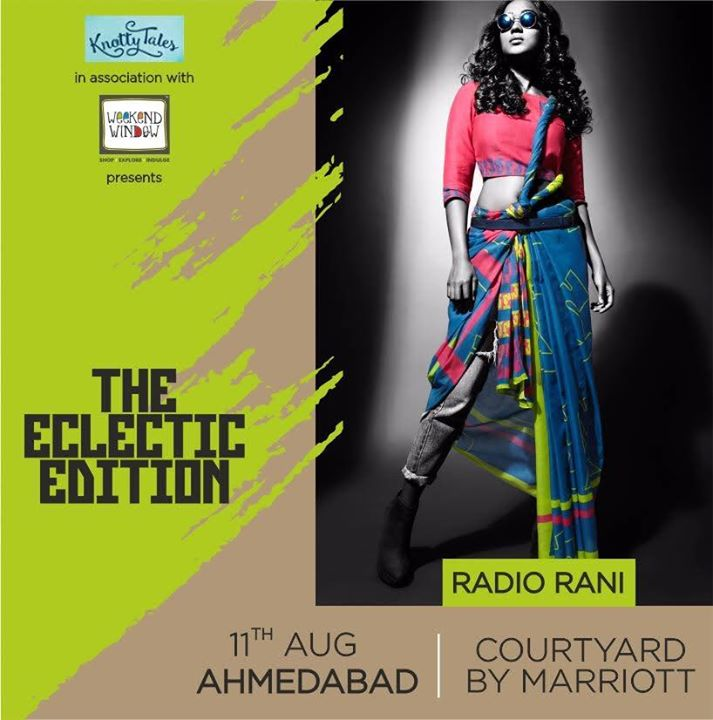 Radio Rani is like a climax of a slow depressing movie. The current trends in fashion are monotonous and mundane. This label brings a collection that is like a breath of fresh air. Add that drama and excitement to your wardrobe with these quirky, bomb ensembles. Explore this ensemble at #weekendwindow #knottytales #theeclecticedit  Venue : Courtyard Ahmedabad 11th August, 2017  #shoptillyoudrop #shoppinglove #ahmedabad #luxuryshopping #popup #designers #festivecollection #indianwear #specialshopping