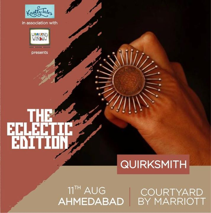 Drawing influences from the current trends of fashion, Quirksmith brings a whole trunk of funk. As the name of the label suggests, we have quirky jewellery in store for you. Grab yours and flaunt your style fearlessly.  #weekendwindow #knottytales #theeclecticedit #luxuryshopping #popup #shopping #whatsmartwomenwear #ahmedabad #courtyarahmedabad #shoptillyoudrop #festivecollection #indianwomen #festive #fahion #stylestatement