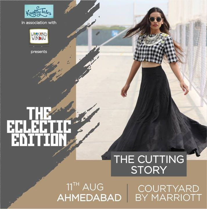 A replica of the designer's personal style and taste, The cutting story is contemporary yet chic. The charm of colours promise ornamental silhouettes and trends. Be it drape dresses, tunics, long jackets and many more, get your hands on the season's best and look fresh, modern and credible. Join us at The Eclectic Edit Venue: Courtyard Ahmedabad . . . #weekendwindow #knottytales #boldandbeautiful #fashion #style #shopping #luxury #women #womenwear #womenfashion #trends #trendingnow #charm #contemporary #apparel #handcrafted #luxuryshopping #happyshopping #shoptillyoudrop #popshop #eatshoplove #ahmedabad