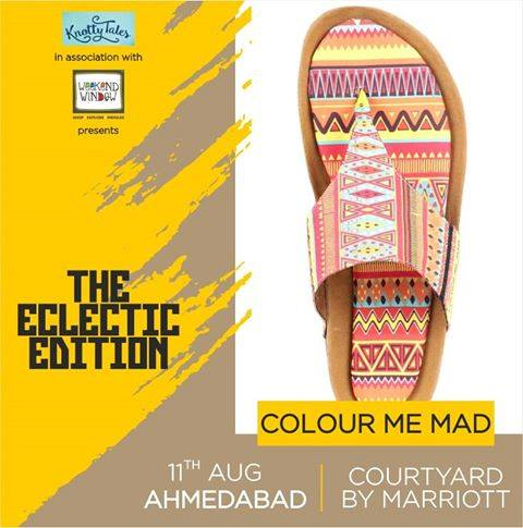 Colour Me Mad was born as a result of the dream to make footwear more creative and quirky. The flawless blend of luxury and comfort, get perfectly handcrafted and proudly curated in India footwear! Join us at The Eclectic Edit Venue: Courtyard Ahmedabad . . . #weekendwindow #knottytales #eclecticedit #fashion #style #shopping #luxury #women #womenwear #womenfashion #trends #trendingnow #footwear #flawless #handcrafted #luxuryshopping #happyshopping #shoptillyoudrop #popshop #eatshoplove #ahmedabad