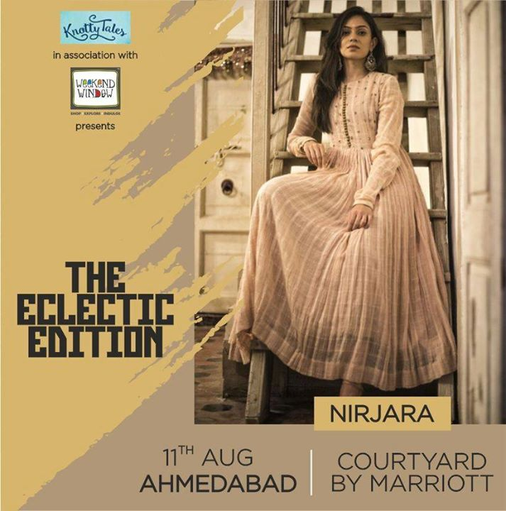 NIRJARA is an exquisite collection of new-age clothing inspired from the Royal India.  They give a perfect combination of Indian crafts on beautifully handcrafted fabrics & silhouettes blended with eye-catching trendy colors, thus giving the garment a modern look within an Indian context.  #Ahmedabad, come shop till you drop with Nirjara and many more designers showcasing under one roof. Join us 11th August at #CourtyardbyMariott . . . #shop #shopping #ahmedabadshopping #shoppinggalore #shoptillyoudrop #fashion #jewellery #homedecor #kidswear #shoes #apparels #everythingunder15k