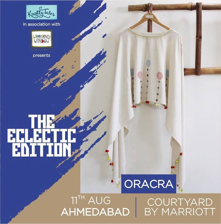 Oracra brings up a magic to your wardrobe and play-fullness to one's life. It enables you to have more from less and a proud owner of a piece of art in your wardrobe. Check out their playful collection only at #WeekendWindow The Eclectic Edit - 11th August at Courtyard by Marriott . . . #weekendwindow #knottytales #shop #shopping #shoppersparadise #shoptillyoudrop #shopintown #ahmedabad #shoppinginahmedabad #dress #glamour #style #stylishshopping #stylefiles #stylecheck #highlow #trends