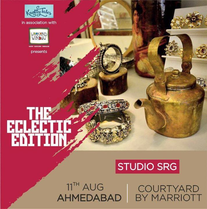 From Classic Keepsakes To Treasured Masterpieces #STUDIOSRG brings unique blend of Old World elegance with New World dynamism through their Bollywood inspired fashion jewelry .Don't miss their extravagant collection. Join us at #WeekendWindow #TheEclecticEdition in association with #KnottyTales on 11th August in Ahmedabad at Courtyard by Marriott. #fashion #jewellery #ethnic #modern #fusion #ahmedabad #exhibition #shopping #designer #extravaganza #bangles #necklace #cosmopoliton #indian #courtyard #shoppingspree #exclusive #catchthegalor #marriottcourtyard