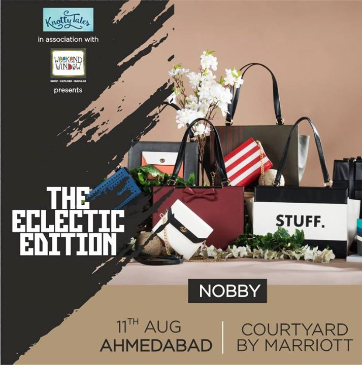 Come say hello to Nobby, a socially conscious, innovative fashion movement that aims to make modern, premium fashion and smarter trends.Bags with interchangeable skins! Oh yes, for the first time in India and only at #WeekendWindow #TheEclecticEdit, on 11th August, Ahmedabad at The #Courtyard by #Marriott  #accessories #fashion #new #brand #customize #options #choose #shoppers #opportunity #ahmedabad #exhibition #premium #eclectic #modern #knottytales