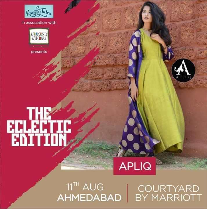 Modern and elegant silhouettes with a Bohemian feel. We're totally crushing over the Apliq' collection.  Check out their boisterous collection only at #WeekendWindow #TheEclecticEdit on 11th August, at the Courtyard by Marriott Ahmedabad. . . . . #fashion #collection #elegant #apparel #bohemian #eclectic #shoppinspree #ahmedabad #ahmedabadbloggers #thingstodo #fashionbloggers #bloggers #style #shoptillyoudrop #festivewear #rakhishopping #diwalishopping #whowearwhen #KnottyTales