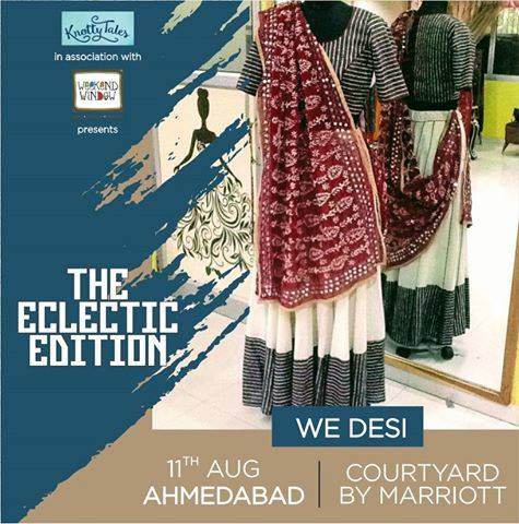 Inspired by the lively, colorful elements that characterize the Desi way of life; WeDesi by Shree Savani transforms meticulous tailoring and careful detailing by stitching some spirit in each of our garments. Who says tradition has to be boring? ------------------------------------------------ Fall in love with revamped Desi dressing at #WeekendWindow #TheEclecticEdit in association with #KnottyTales The Courtyard Marriot, Ahmedabad on the 11th of August #houseofwedesi #shreesavani #designer #pretaporter #hautecouture #fashion #desi #indian #ahmedabad #handcrafted #eclecticedit #knottytales #courtyardbymarriot #indiandesigner