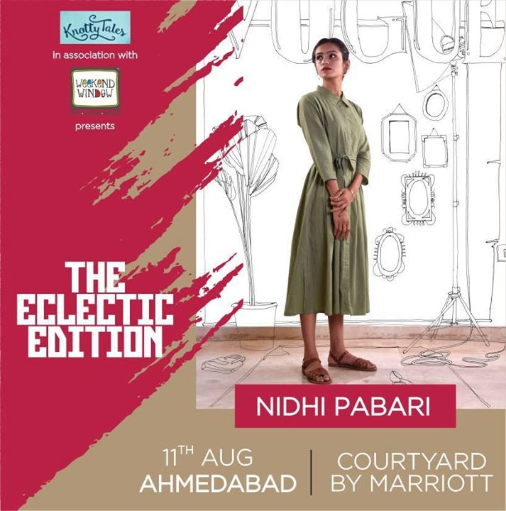 We believe that the environment is the best stylist. Our clothing is for the conscious consumer, and is crafted with only organic and sustainable materials. Minimalism is her mantra, and Akshhar believes that the less we waste, the happier consumers we become.  ------------------------------------------------- Make your wardrobe a little greener by visiting her at #WeekendWindow #Knottytales #theeclecticedit in ... See More — at Courtyard by Marriott Ahmedabad.