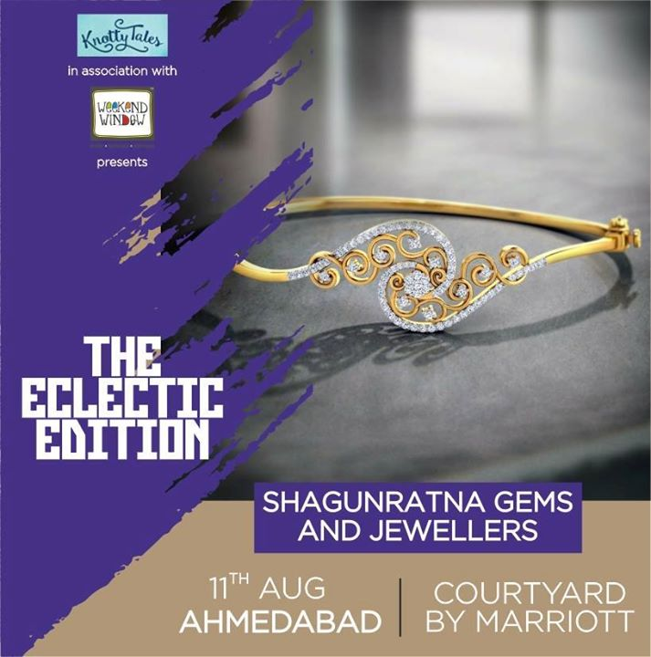 Nothing makes a woman sparkle like her best friends; and we all know that diamonds are a girl's best friend. Treat yourself to a dreamy pair of diamonds or gemstones that make your eyes glitter, at Shagunratna Gems & Jewellers : you deserve it.  -------------------------------------------- Befriend our IGI certified diamonds and gemstones at #WeekendWindow #theeclecticedit in association with #KnottyTales The Courtyard by Marriot, Ahmedabad on the 11th of August ----------------------------------------------- #jewellery #diamonds #gemstones #exclusive #highestquality #purity #IGIcertified #Shagunratna #beauty #sparkle #watches #courtyardbymarriot #ahmedabad #knottytales #eclecticedit