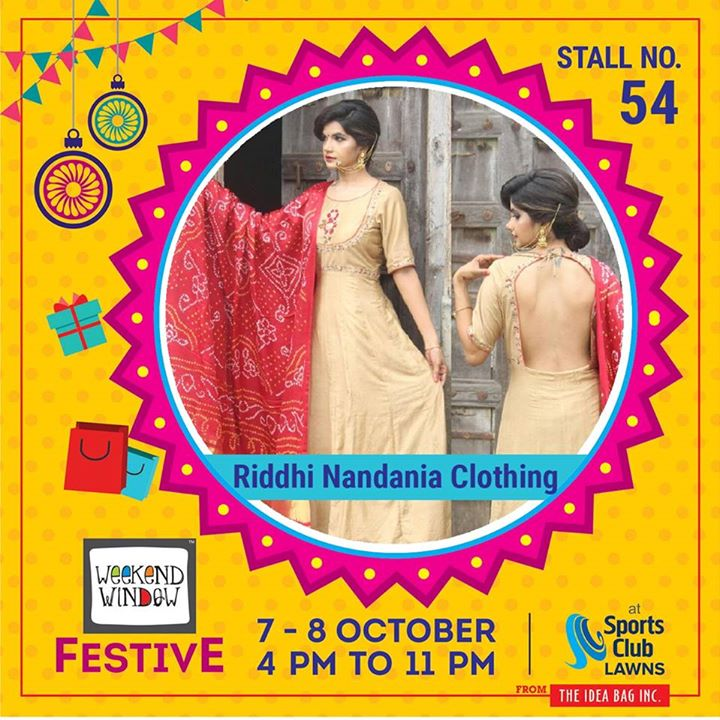 Sustainable fashion which experiments silhouette designs with the touch of Indian crafts.  Riddhi Nandania Clothing's latest collection is all about the new trends in fashion with classical Indian embroidery inspired by nature and royal India.   #weekendwindow #theideabaginc #curatedevent #diwalishopping #weekendwindowfestive #prediwali #shopping #diwaligifting #beauty #sportsclubofgujarat #diwalivibes #festivevibes #festivities #whatwomenwant #shoptillyoudrop #kidsactivities #workshops #art #craft #Foodaholics #Fun #Entertainment #music #enjoyement #love #foodporn #foodbitting #Fleamarket #indianwears