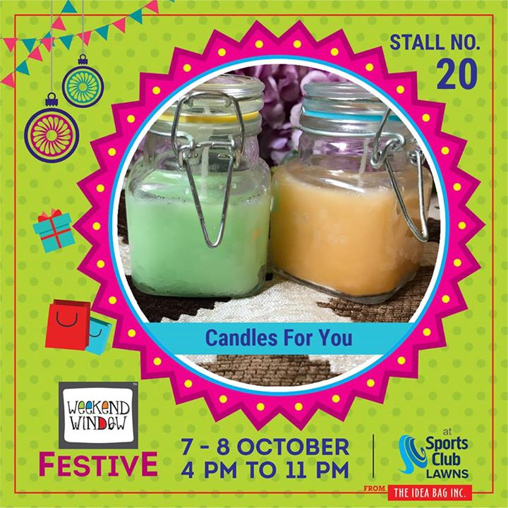 Candles don't just light the world outside but they also give a feeling of light within.  At Candles for You by Nency Shah, you can find the most decorative candles in town with artistic designs and colors . The best quality ever at the most affordable prices. Burning these fancy candles won't hurt your pocket or give you guilt   #weekendwindow #theideabaginc #curatedevent #diwalishopping #weekendwindowfestive #prediwali #shopping #diwaligifting #sportsclubofgujarat #diwalivibes #festivevibes #festivities #shoptillyoudrop #kidsactivities #workshops #art #craft #Foodaholics #Fun #Entertainment #music #enjoyement #love #foodporn #foodbitting #Fleamarket