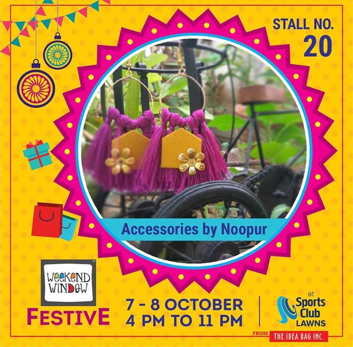 It's time to zest up the festive feel It's time to deck up with zeal It's time for Diwali with something new  This Diwali Accessories by Noopur brings you out of the ordinary Hand-crafted, lightweight accessories in unique shapes that are sure to please You & Your outfit !  #weekendwindow #theideabaginc #curatedevent #diwalishopping #weekendwindowfestive #prediwali #shopping #diwaligifting #sportsclubofgujarat #diwalivibes #festivevibes #festivities #shoptillyoudrop #kidsactivities #workshops #art #craft #Foodaholics #Fun #Entertainment #music #enjoyement #love #foodporn #foodbitting #Fleamarket #newfashiontrends