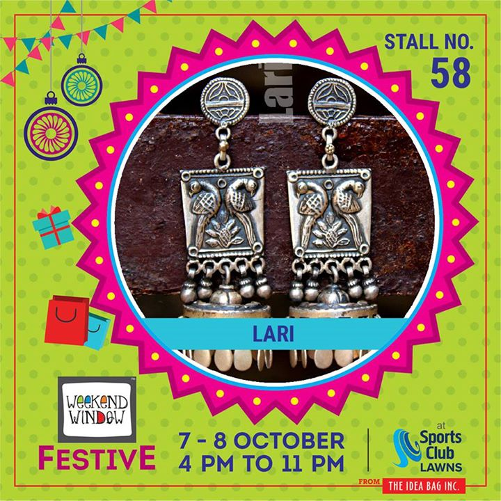 Lāri is a celebration of our love for jewelry. Made with pure 92.5 sterling sliver, each piece is handcrafted in a beautiful, traditional design meant to appeal to the royalty within our patrons. #weekendwindow #theideabaginc #curatedevent #diwalishopping #weekendwindowfestive #prediwali #shopping #diwaligifting #sportsclubofgujarat #diwalivibes #festivevibes #festivities #shoptillyoudrop #whatwomanwants #kidsactivities #workshops #art #craft #Foodaholics #Fun #Entertainment #music #enjoyement #love #foodporn #foodbitting #Fleamarket