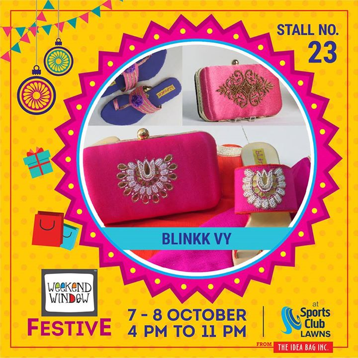 Blinkk Footwear is a brand that is into exquisite handcrafted shoes and bags. And this time. Blinkk is introducing men's hand embroidered loafers and mojadis. They are showcasing their exquisite, colorful and trendsetting range of fashion footwear and bags apt for the upcoming festive season.  #weekendwindow #theideabaginc #curatedevent #diwalishopping #weekendwindowfestive #prediwali #shopping #diwaligifting #sportsclubofgujarat #diwalivibes #festivevibes #festivities #shoptillyoudrop #kidsactivities #workshops #art #craft #Foodaholics #Fun #Entertainment #music #enjoyement #love #foodporn #foodbitting #Fleamarket