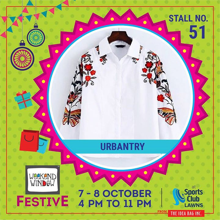 Live young, wild and free, TRY and experiment with different trends and styles and leave boring and unpleasant Fashion behind.Let us make the quirky.  Let's be URBANIZERS!! Urbantry - Fashion Powerhouse. #weekendwindow #theideabaginc #curatedevent #diwalishopping #weekendwindowfestive #prediwali #shopping #diwaligifting #sportsclubofgujarat #diwalivibes #festivevibes #festivities #shoptillyoudrop #whatwomanwants #kidsactivities #workshops #art #craft #Foodaholics #Fun #Entertainment #music #enjoyement #love #foodporn #foodbitting #Fleamarket