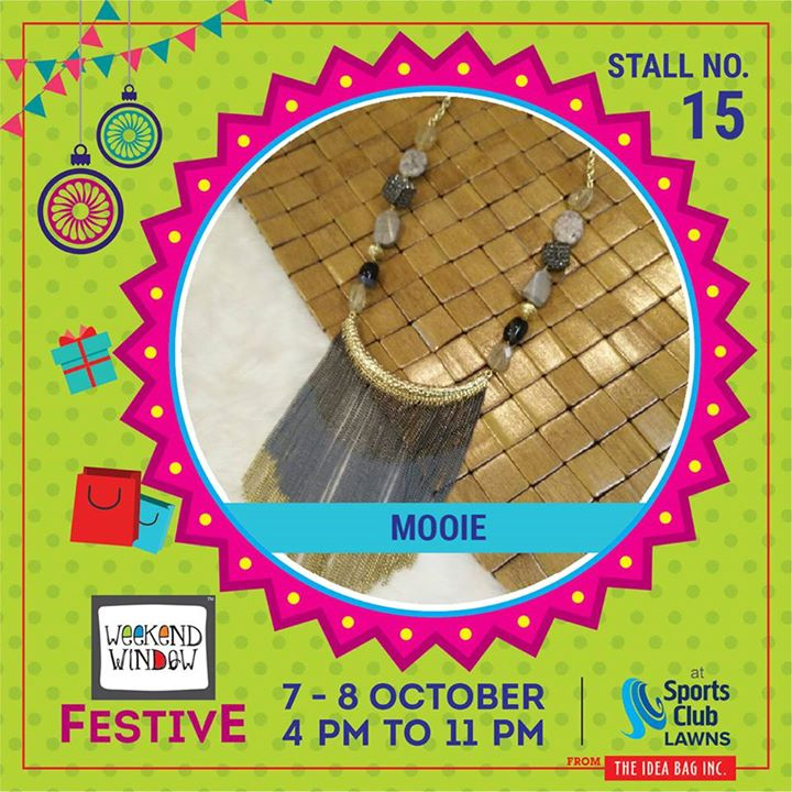 Mooie Designer Jewellery​ is the defination of beauty; A jewellery collection that binds modern aesthetics with classic styling. #weekendwindow #theideabaginc #curatedevent #diwalishopping #weekendwindowfestive #prediwali #shopping #diwaligifting #sportsclubofgujarat #diwalivibes #festivevibes #festivities #shoptillyoudrop #whatwomanwants #kidsactivities #workshops #art #craft #Foodaholics #Fun #Entertainment #music #enjoyement #love #foodporn #foodbitting #Fleamarket