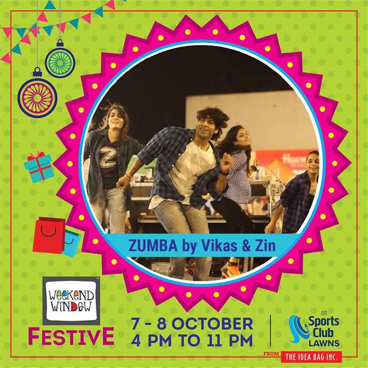 Vikas Sharma Zin Zumba Venue : Sports Club of Gujarat Lawn, Ahmedabad Date : 7-8 October, 2017 Time : 4pm to 11pm #weekendwindow #theideabaginc #prediwali #diwalivibes #shopping #fun #foodaholic #entertainment #shoptillyoudie #music #stageperformance #dance #diwalicollection #fleastival #sportsclub #festive #diwali #shoptillyoudrop