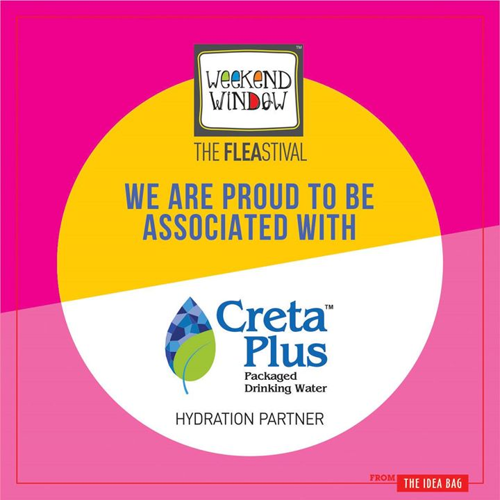 We are happy to announce that Creta Plus - Packaged Drinking Water is our Hydration partner with Beardo Weekend Window XII Edition - Ahmedabad    More than 180 +shopping brands, 25 Food Brands, Kids Activities, Workshops, Entertainment, Bands, DJ & Stand Up Comedy, and a lot more...!  Date: 22-23-24 December, 2017 Time: 4 pm to Mid night Venue: Karnavati Club Lawn, Ahmedabad #weekendwindow #theFLEAstival #theunbeatable #shop #explore #indulge #fleamarket #workshops #love #BeardoWeekendWindow