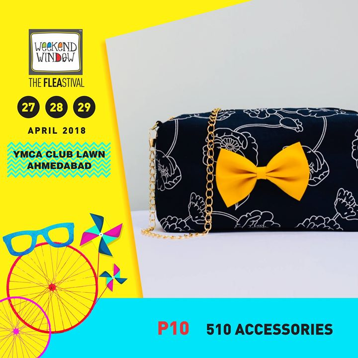 510 Accessories is all about handmade accessories. Their product portfolio has some really cool summer designs in bows, pouches, scrapbooks, bow-ties, sunglasses case and much more. Check out their new summer trends at Weekend Window - XIII Summer Edition on 27-28-29 April at YMCA International Centre - Ahmedabad from 4 pm onwards.  #weekendwindow #theFLEAstival #accessories #knickknacks #trendy #handmade #summer