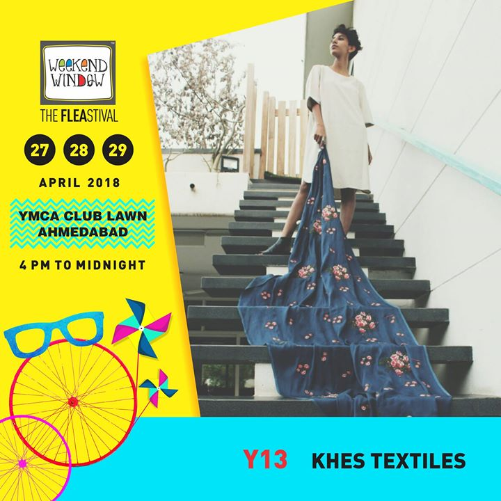 Khes Textiles brings to you a wide range of beautifully crafted fabrics for your personalized ensemble. Each fabric is meticulously curated with handcrafted embroideries.   27-28-29 April, YMCA Club Lawn, 4pm onwards  #weekendwindow #ww13 #summer #fashionmusthaves #fabrics #summerwear #summerfashion #weekendwindow #fleamarket #happyshopping #shoptillyoudrop
