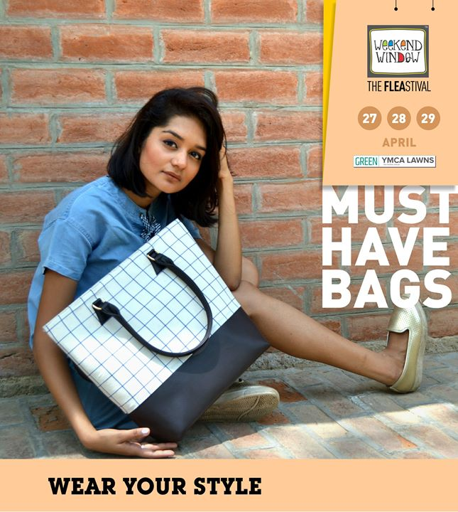 #LessThanAWeekToGo!!  Find a super mix of quirky and stylish designs of bags & accessories at the Weekend Window - XIII Summer Edition! Here are the top 6  picks for you!  Weekend Window Date:27-28-29 April Venue: YMCA International Centre - Ahmedabad Time: 4pm to midnight  #weekendwindow #theFLEAstival #bagalert #bags #musthaves  #ww13 #fleamarket #shopping #kids #music #food