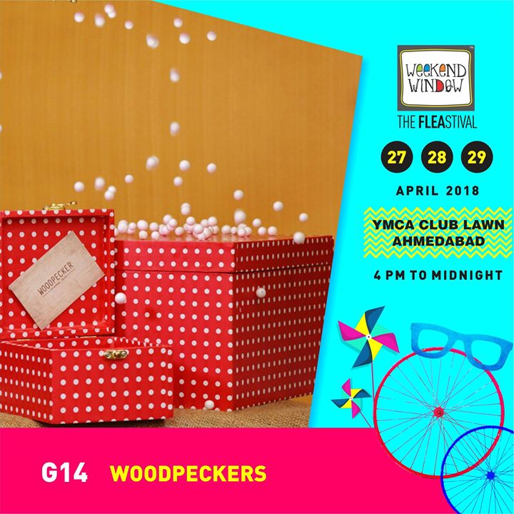 Woodpeckers provides you with artistic products for gifting as well as for home decor. They provide customised gifting options for all occasions  Weekend Window Date:27-28-29 April Venue: YMCA International Centre - Ahmedabad Time: 4pm to midnight  #weekendwindow #theFLEAstival #customised #homedecor #fleamarket #shopping #kids #music #food