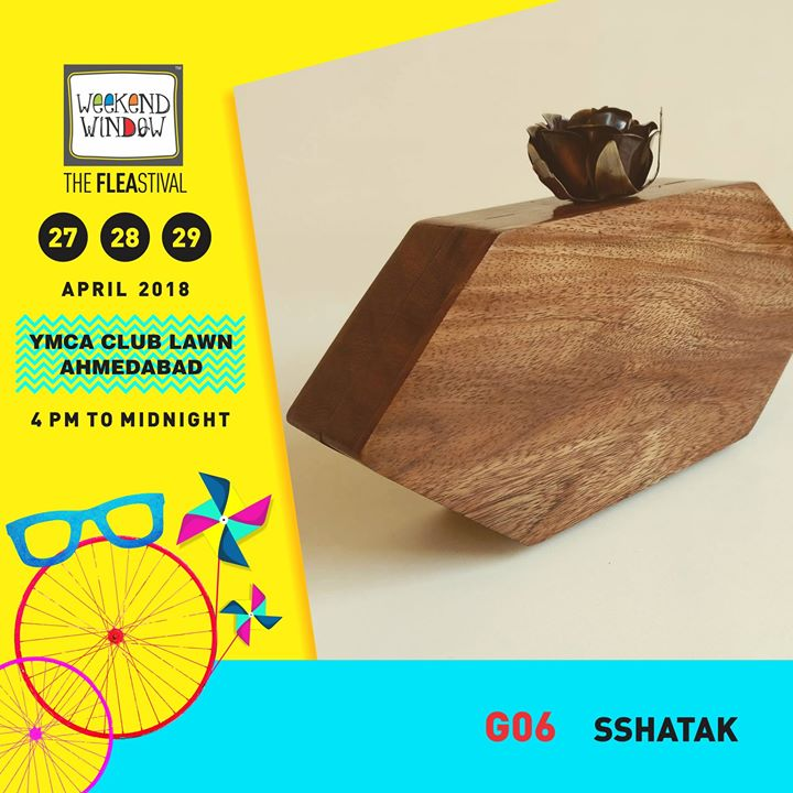 Sshatak is A label that continuously strives to design & bring out awe-inspiring collection of arm candies for the modern day urban women.   Weekend Window Date:27-28-29 April Venue: YMCA International Centre - Ahmedabad Time: 4pm to midnight  #weekendwindow #theFLEAstival #bagalert #designerbags #musthaves #ww13 #fleamarket #shopping #kids #music #food
