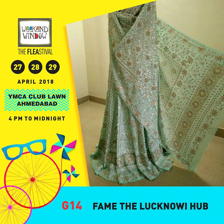 Fill your wardrobe with some beautiful collection lucknowi collection this summer coz Fame The lucknowi hub is all set to show its new chikankari products.. Get the most beautiful handcrafted outfits in lucknowi with heavy chikankari and Baadla work only from Weekend Window!  27-28-29 April, 2018 YMCA International Centre - Ahmedabad, 4pm onwards  #weekendwindow #theFLEAstival #summerfashion #musthaves #newfinds #indianwear #summeressentials #shoptillyoudrop