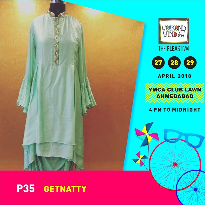 GetNatty is A unique destination to explore and shop flawless designer wear crafted by talented Indian fashion designers!  Date:27-28-29 April Venue: YMCA International Centre - Ahmedabad Time: 4pm to midnight  #weekendwindow #theFLEAstival #fashiondesigner #designercollection #fashionmusthaves #ww13 #fleamarket #shopping #kids #music #food #entertainment