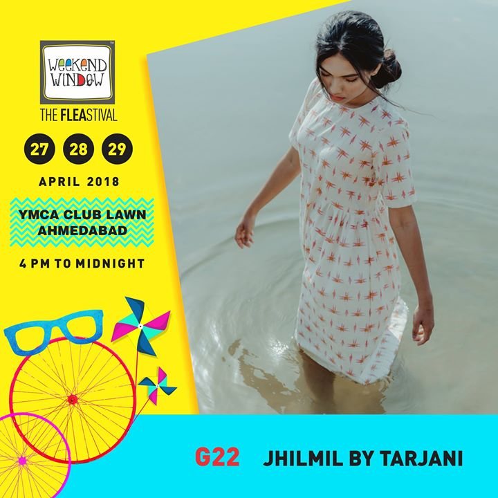Jhilmil_by_Tarjani is all set to present a fine collection of women's cool casuals for this summer!  Date:27-28-29 April Venue: YMCA International Centre - Ahmedabad Time: 4pm to midnight  #weekendwindow #theFLEAstival #summercollection #fashionwear #designerwear #ww13 #fleamarket #shopping #kids #music #food #entertainment