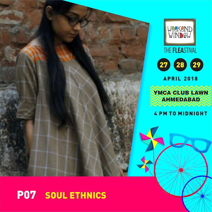 SOUL Ethnics specializes in Indian ethnic couture; passionately designed,vibrant Indian and fusion wear.   Date:27-28-29 April Venue: YMCA International Centre - Ahmedabad Time: 4pm to midnight  #weekendwindow #theFLEAstival #summercollection #fashion #fashionmusthaves #fleamarket #shopping #food #entertainment