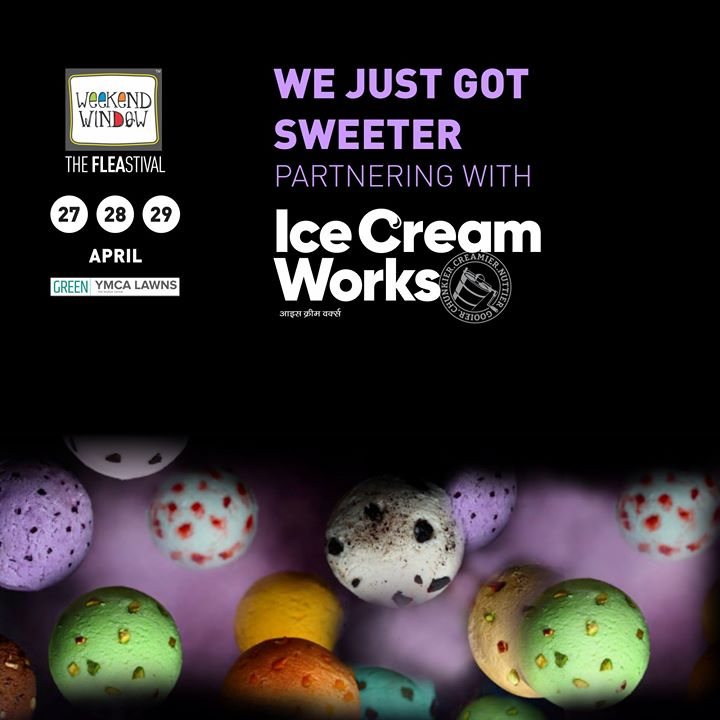 Shout out to all Ice Cream lovers out there!  Proud to associate with Ice Cream Works - Gujarat as Ice Cream Partner who'll be serving many delicious ice cream flovours and we assure you that choosing one flavour will be difficult!   Date: 27-28-29th April'18 Time: 4 pm to Mid night Venue: YMCA Club Lawns  #weekendwindow #theFLEAstival #theunbeatable #foodie #foodbelt #saveyourappetite #icecreampartner #loveforicecream