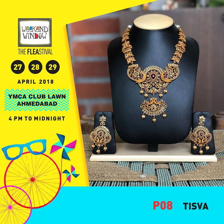 Look out for stunning one of its kind imitation antique jewellery designs by  TISVA INC.    Date: 27-28-29th April'18 Time: 4 pm to Mid night Venue: YMCA Club Lawns  #weekendwindow #theFLEAstival #jewellery #imitation #fashionaccesories #shopping #food #entertainment
