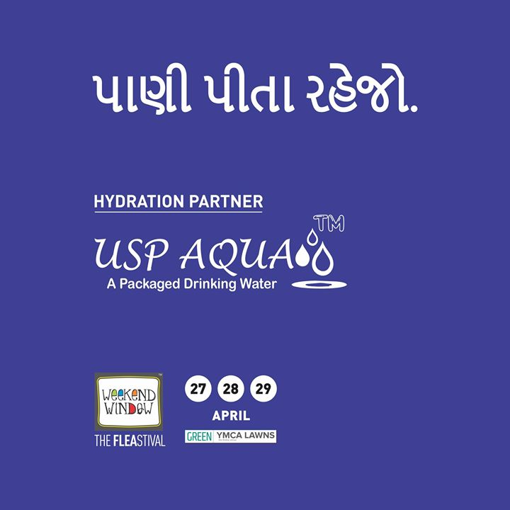 This summer stay hydrated with USP AQUA!  Proud to associate with USP Aqua as Hydration Partner! Date:27-28-29 April Venue: YMCA Club Lawns Time: 4pm to midnight  #weekendwindow #fleastival #water #hydrationpartner #stayhrated #food #music #entertainment