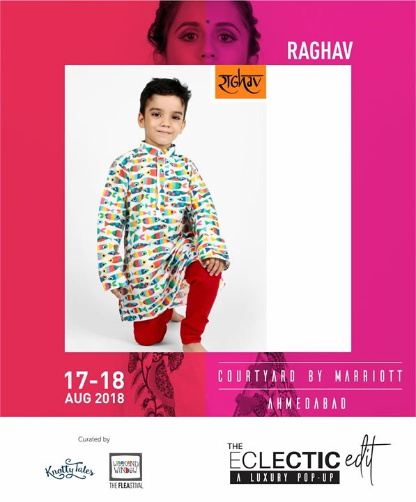 Raghav Creations/Bananaah is a playful clothing brands for boys from 0-6 yrs. Wanting to make sure your lil man looks dapper? Well, they bring to The Eclectic Edit, a selected range of festive collection for our young Amdavadi boys.  65+ brands showcasing at The Eclectic Edit - Season 3 - a curated luxury pop-up by Knotty Tales & Weekend Window  #boys #festivecollection #kurta #koti #jackets #style #comfort #kidswear #playful #theeclecticedit #knottytales #weekendwindow #luxury #popup #shopping