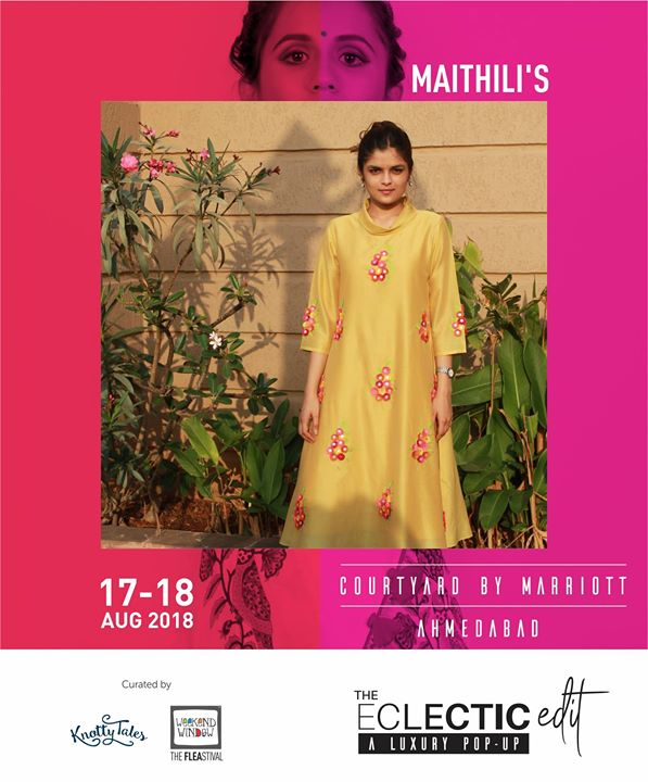 Maithili Goradia is a textile and fashion label which celebrates Indian Textiles. They specialize in Luxury Daily Wear for comfort for Indian Woman. Fashion junkies would value consistent with the ecosystem of their fashion label.  65+ designers showcasing at The Eclectic Edit - Season 3 curated by Knotty Tales & Weekend Window.  #makeinindia #handblockprint #handmade #sustainable #upcycle #instafashion #indiantextile #textile #modernisingindiantextile #luxurydailywear #theeclecticedit #knottytales #weekendwindow #luxury #popup #festive