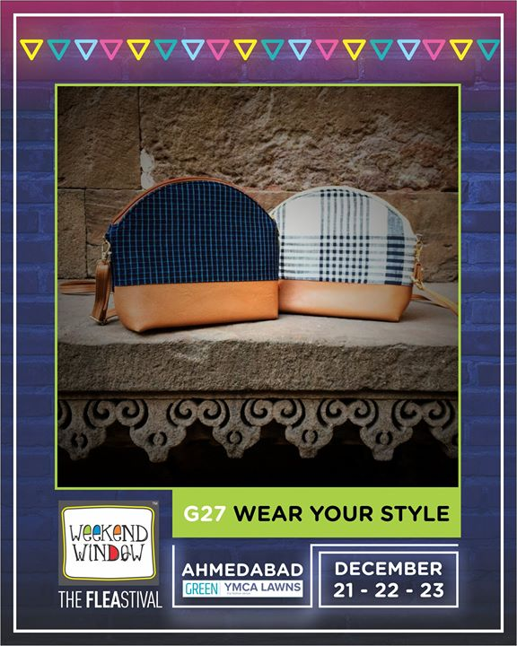 Chic in style 'n comfort and with wide utility options, bags, clutches, slings, laptop sleeves and much more by Wear Your Style only at the #weekendwindow  Date: 21-22-23 December, 2018 Time: 4 pm to 11 pm Venue: YMCA Club Lawn, SG Highway  #weekendwindow #theFLEAstival #fleamarket #shopping #bags #slings #food #fun #december2018 #14thedition #happiness
