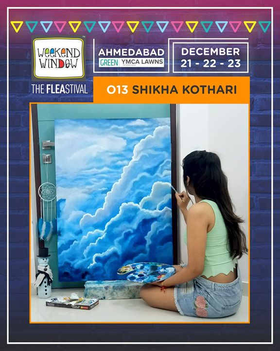 Beautify your home corners and work spaces with beautiful, energizing art works by city artist Shikha Kothari  Date: 21-22-23 December, 2018 Time: 4 pm to 11 pm Venue: YMCA Club Lawn, SG Highway  #weekendwindow #theFLEAstival #fleamarket #shopping #food #fun #december2018 #14thedition #happiness #art #paintings #artlovers