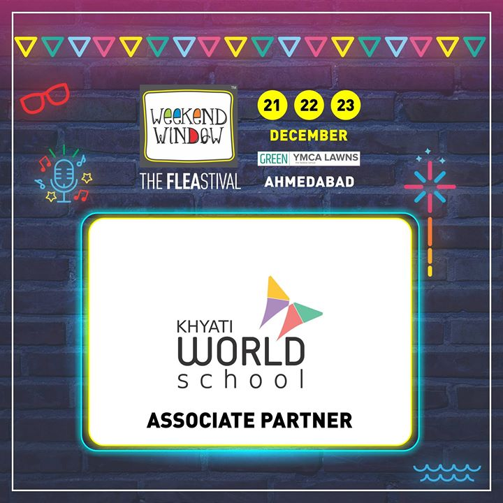 Glad to have Khyati World School as ASSOCIATE PARTNER of Weekend Window 14th edition! They believe in equipping young children with knowledge, skills and attitude to flourish in life and make a positive difference to the world.  Date: 21-22-23 December, 2018 Venue: YMCA Club Lawn, Ahmedabad Timing: 4 pm to 11 pm #weekendwindow #fleamarket #shopping #fashion #jewelery #fashionaccesories #musthaves #designerwear #fleastival #countdownbegins #KhyatiWorldSchool #partner