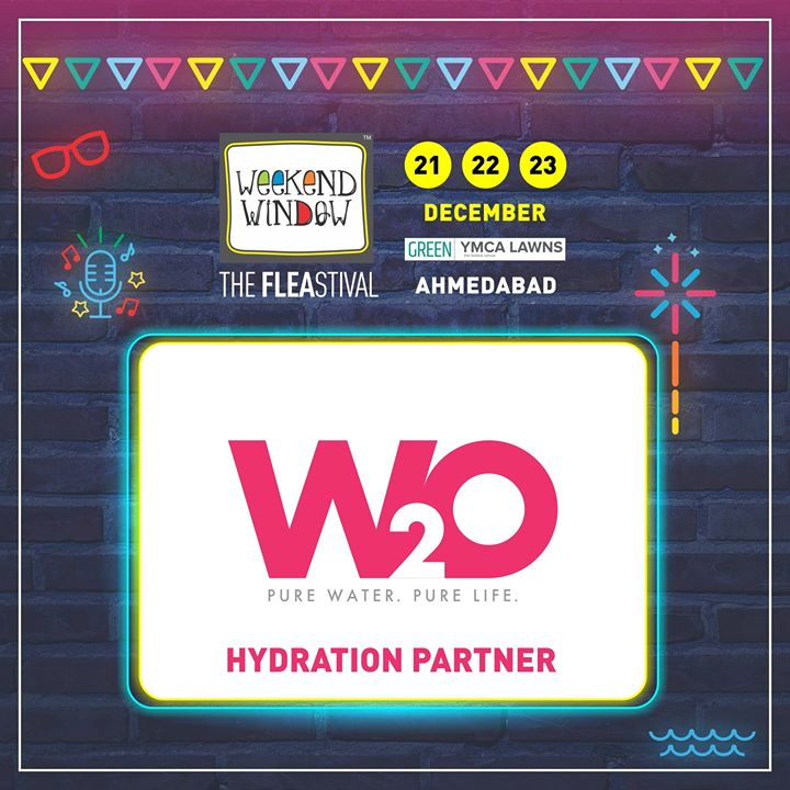 Stay Hydrated at 14th edition of Weekend Window with our Hydrtation Partnwer, W2O! They provide an array of products include Alkaline Water Purifiers, Mineral Bottled Water, Copper Bottles & Water Purification System.  Date: 21-22-23 December, 2018 Venue: YMCA Club Lawn, Ahmedabad Timing: 4 pm to 11 pm #weekendwindow #fleamarket #shopping #fashion #jewelery #fashionaccesories #musthaves #designerwear #fleastival #countdownbegins #W2O #partner