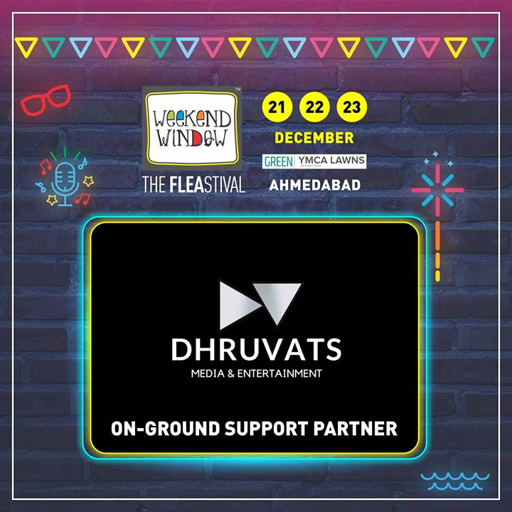 Glad to have support in Dhruvats as ON GROUND SUPPORT PARTNER of Weekend Window's 14th Edition! This young startup of the city extends online and offline activation assistance to several events!  Date: 21-22-23 December, 2018 Venue: YMCA Club Lawn, Ahmedabad Timing: 4 pm to 11 pm #weekendwindow #fleamarket #shopping #fashion #jewelery #fashionaccesories #musthaves #designerwear #fleastival #countdownbegins #Dhruvats #partner