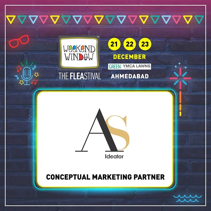 Glad to have AS Ideator by Aditi Shishoo on board as Conceptual Marketing Partner of the 14th edition of Weekend Window!  She is young force behind city's well known brand's  Online & offline marketing ideations!  Starts Tomorrow!! Date: 21-22-23 December, 2018 Venue: YMCA Club Lawn, Ahmedabad Timing: 4 pm to 11 pm #weekendwindow #fleamarket #shopping #fashion #jewelery #fashionaccesories #musthaves #designerwear #fleastival #countdownbegins #asideator #partner