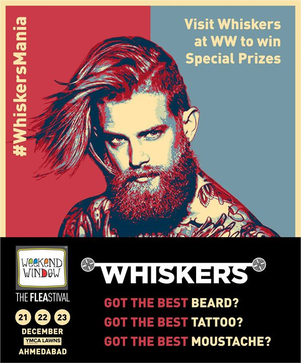 MEN!!! It's time to flaunt your swag at Weekend Window!!  You think you've got the best Beard Or Moustache Or Tattoo?? Then come visit Whiskers Grooming Lounge at Weekend Windowto avail some special prizes!!  Women, You can show off  your tattoos too!!  21-23rd Dec'18 YMCA Club Lawns, 4 pm onwards  #weekendwindow #fleamarket #shopping #fashion #jewelery #fashionaccesories #musthaves #designerwear #fleastival #countdownbegins #whiskers #contest #whiskersmania