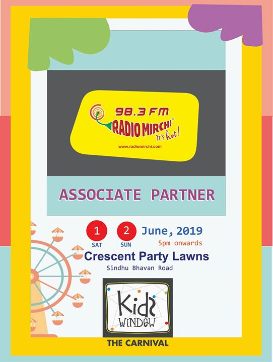 Weekend Window brings to you Ahmedabad's biggest kids carnival in association with Radio Mirchi. Get ready to have some fun with one kids making as a junior RJ for a day at Mirchi office! It's Hot!  #kidsdwindow #kidsevent #carnival #ahmedabad #fleamarket #happiestplacetobe #crazyweekend #happyfaces #smilesallaround #itstrending #fashionweekend #windowtohappiness #iwanttobethere #popularevent