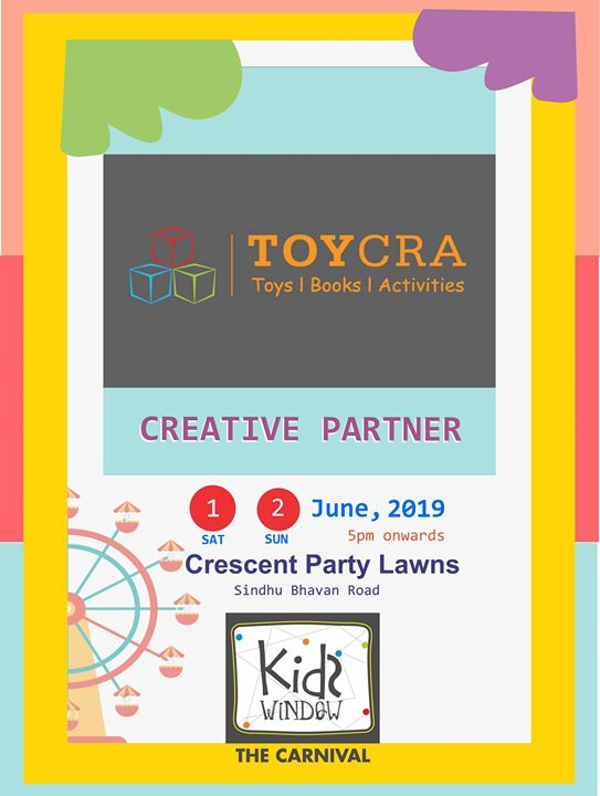 Get. Set. Craft! Toycra is all set to bring forward their creative league and teach some very interesting workshops for all the kids at Kids Window.   Happiness knows no bound. Especially when it is handmade! :)  #workshops #creativity #hobby #artncraft #kidsfuntime #itstrending #fleamarket #happiestplacetobe #crazyweekend #iwanttobethere #windowtohappiness #smilesallaround #fashionweekend #weekendwindow