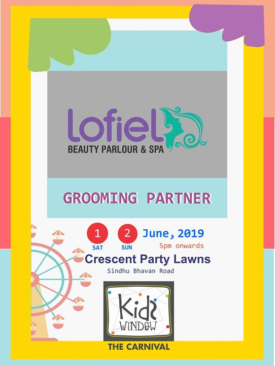 Kids window carnival's grooming partner is Lofiel, because we don't settle for anything but the best. #weekendwindow #beautytipsinahmedabad #bestlifestyle #fleamarket #smilesallaround #happyfaces #crazyweekend #happiestplacetobe