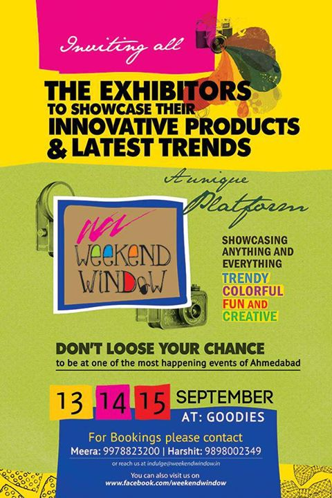 Weekend Window, Shopping | Art | Live Music | Photo Booth | Food | Workshops | Stand Up Comedy | Drama | Performances | Kids Activity | Product Launches & much more!!