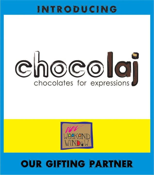 If you are looking for the best Handmade Chocolates in town then CHOCOLAJ has it!! The best non-flavored natural chocolates and desserts with no preservatives at all.. What more do you want for your friends and family?? Better hurry coz they will be sold out before you know! Proudly present 'CHOCOLAJ' as our gifting partner.. :)  Only at Weekend Window from 23-25 May at T3 cafe from 4-11pm