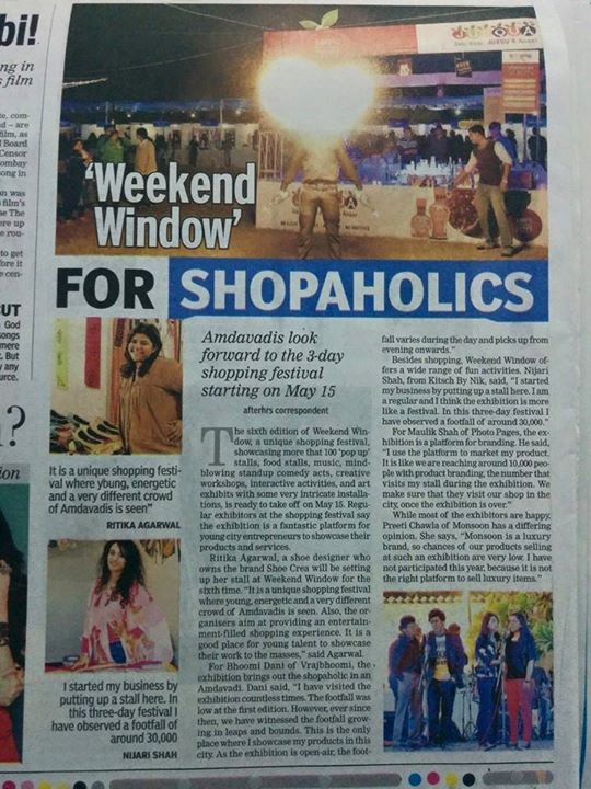 Weekend Window is in the news!! #weekendwindow #ww6 #shopping #fun #music #love