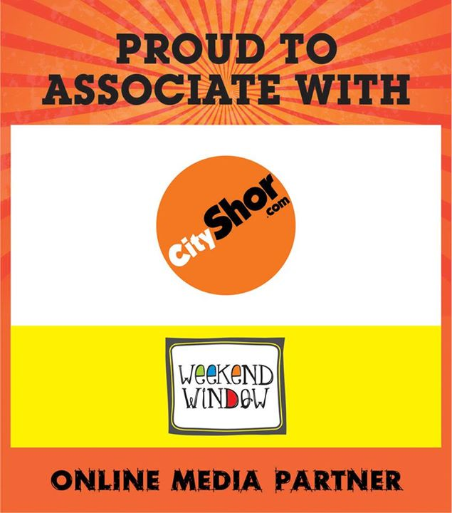 Happy to announce our online media partner Cityshor Ahmedabad at Weekend Window on 15-16-17 may from 4pm to midnight at ymca.  Cheers! Stay creative. Team WW.