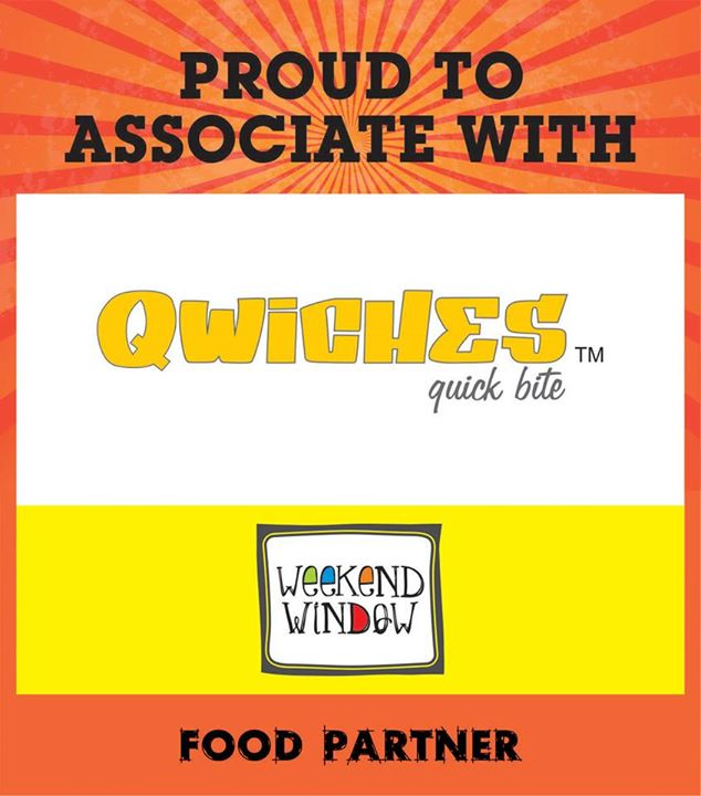 We are proud to have Qwiches as our food partner at Weekend Window on 15-16-17 MAY from 4PM to Midnight at YMCA  Cheers! Stay Creative! Team WW.